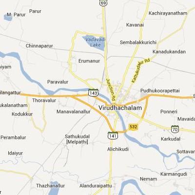 satellite map image of Vriddhachalam( Vriddhachalam,tamilnadu செயற்கைக்கோள் வரைபடம் படம்)